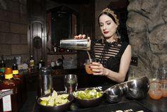 Dita Von Teese loves to make her own cocktails.
