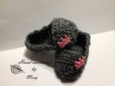 Ballet Slippers by MarysCrochetdesigns on Etsy, $12.00