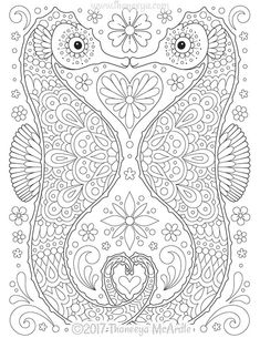 Seahorses Coloring Page From Thaneeya McArdles Delightful Animal Families Book