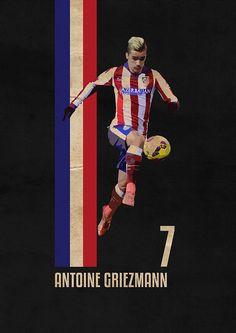 'antoine griezmann' Poster by varioo Football Icon, Football Design, World Football, Football Soccer, Antoine Griezmann, Soccer Poster, Sports Graphics, Football Wallpaper, Sports Art