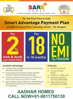 SARE Homes Upcoming Project in Gurgaon, Call Now +91-9811750130/9711139812 by Aadhar Homes via slideshare