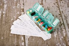 An advent calendar for Valentine's Day? Corie made a special countdown for her hubby using a seven-day pill box filled with candy and love notes. Isn't this a sweet idea? {Images by The Dating Divas} Diy Valentines Gifts For Him, Christmas Gifts For Boyfriend, My Funny Valentine, Gifts For Your Boyfriend, Boyfriend Coupons, Boyfriend Photos, Saint Valentin Diy, Valentines Bricolage, Ideias Diy