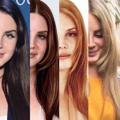 Lana Del Rey + recent hair colors #LDR