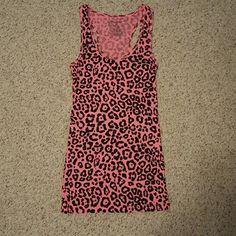 No Boundaries pink leopard tank top No Boundaries No Boundaries Tops Tank Tops