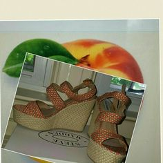 New Steve Madden Georgia Peach wedges 9.5 sale Brand new in box. Rubber sole. The kind of print could really wear with anything. Which is 4 inches. True to size no bundling at sale price Steve Madden Shoes Sandals