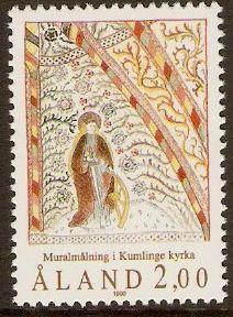 Aland Islands 1990 2m St. Catherine Fresco.
