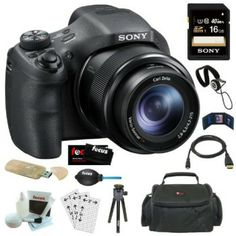 Sony Digital Camera with Optical Zoom and LCD in Black + Sony SDHC + Two Focus Rechargeable Li-Ion Batteries for Sony with Focus Battery Charger + Camera Case + Deluxe Accessory Kit Sony Camera Prices, Sony Camera, Camera Case, Focus Camera, Black Friday Camera, Camera Reviews, Camera Accessories, Nikon, Photos