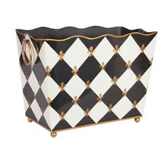Get this beautiful magazine folder of Harlequin Black and Gold rectangle shaped