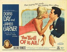 One of Doris Day's best domestic comedies of the 1960's benefits greatly from Carl Reiner's crisp original screenplay and his many very funny cameo's.  Doris and James Garner are a wonderful team. Delightful. Carl Reiner, Dory, Good Movies, I Movie, Crisp, Comedy, The Originals, Memes, Funny
