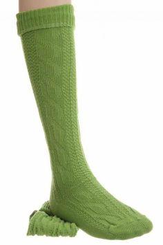 Trendige grasgrüne #Kniestrümpfe - echt lässig!