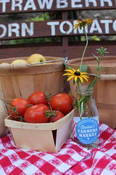 A Sweet Farmers Market Birthday: Easton is One! - Just Add Confetti