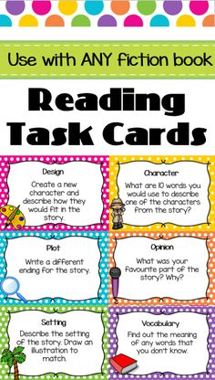 Guided reading games and activities for comprehension guided reading task cards guided reading fandeluxe Image collections