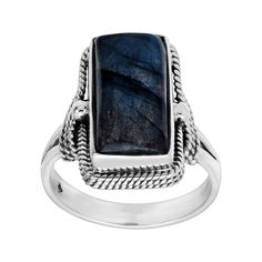 Silpada 'Night Owl' 4 ct Natural Labradorite Rope Ring in Sterling Silver >>> Nice of you to drop by to visit the image. (This is an affiliate link) Silpada Designs, Independance Day, Owl Ring, Labradorite Ring, Blue Opal, Statement Rings, Sterling Silver Rings, Night Owl, Natural