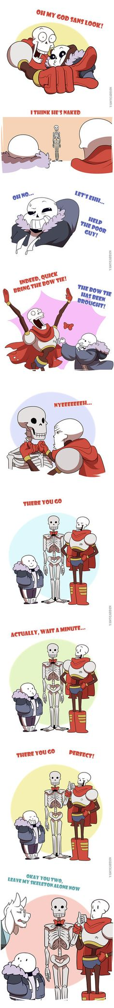 "This guy always makes entertaining Undertale stuff :-) Author Notes:TUMBLR: yamsgarden.tumblr.com/post/140… Hmm If I was a Soriel shipper, I would have made Sans go ""but I thought I was your skeleton"" or something like that Also, HAPPY FEBRUARY 29TH Made wit..."