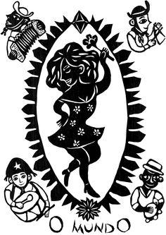 taro_sobreotatame Teen Witch, Tarot Major Arcana, Yellow Paper, Gil Elvgren, Tarot Readers, Arte Popular, Outsider Art, Archetypes, Designs To Draw