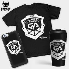 'Galactic Authority Shield' design inspired by sci-fi drama series 'Dark Matter'. #DarkMatter #GalacticAuthority #TShirt #Tee #PhoneCase #TravelMug