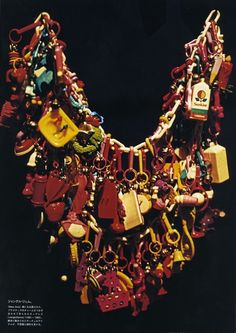Iris Apfel's Plastic 80s Charm Necklace, Vogue Nippon