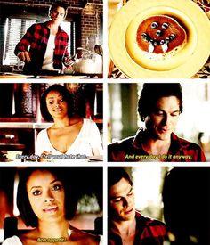 Vampire pancake! End scene for TVD 6x01 Favorite scene of the episode!