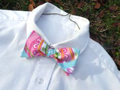 Mens Lilly Pulitzer Bow Tie Adios Patch by LWhelanDesigns on Etsy, $36.00