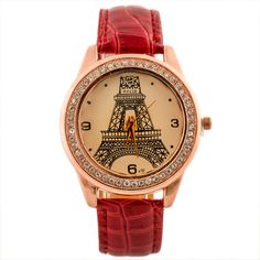 New Pu Leather Band Vintage Paris Eiffel Tower Women's Quartz Dress Watch Girls Ladies Clocks Students Casual Wristwatch Relojes //Price: $9.95 & FREE Shipping //     #hashtag3
