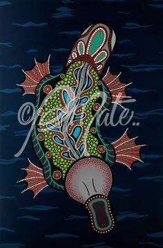 Aboriginal Art Platypus Print