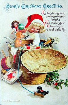 1000+ images about Vintage Christmas & New Years Post Cards on ...