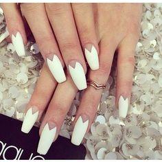 Coffin nail Squaletto//Coffin//Ballerina Nails - Polyvore