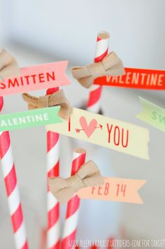 Easy DIY Valentine's Day Party Straws- Target One Spot
