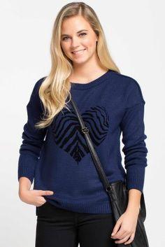 Desenli Kazak Pullover, Sweaters, Blue, Fashion, Moda, Fashion Styles, Sweater, Sweater, Fashion Illustrations