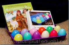 Easter Homeschool Activities ~ Benjamin's Box, Resurrection Eggs
