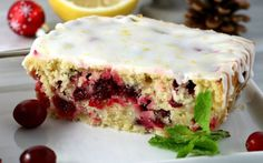 This cake has all of the decadence of a normal pound cake with none of the guilt. Plus, the tart lemons and the sweet cranberries make the perfect flavor and color combination.