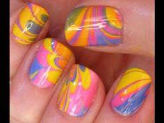 DIY: Marble nails.