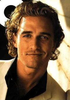 This is how I pictured Christian Grey...too bad mr. Mcconaughey is a little too old for the part now.