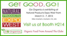 Natural Products Expo West.  Hilton Anaheim March 5–7, 2015 Booth: H214 Anaheim CA