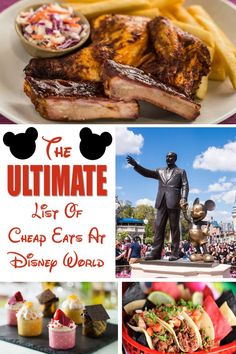 The Ultimate List Of Cheap Eats At Disney World - All Four Parks, Disney Springs, and Disney Resorts -Family Travel Disney World Shows, Disney World Rides, Disney World Food, Disney World Tips And Tricks, Disney Worlds, Disney World Halloween, Disney World Christmas, Christmas Trips, Disney World Vacation Planning
