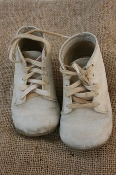 vintage white baby shoes - Google Search