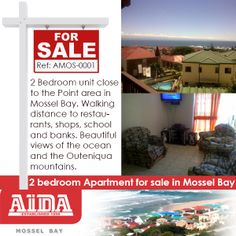 2 Bedroom Apartment for sale in Mossel Bay: 2 Bedroom unit close to the Point area in Mossel Bay. Walking distance to restaurants, shops, school and banks. Beautiful views of the ocean and the Outeniqua mountains WEB REF: Bay Point, Golf Estate, 2 Bedroom Apartment, Apartments For Sale, Banks, Distance, Restaurants, Income Property, Walking