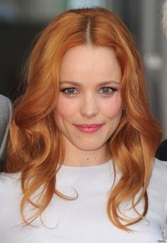 Warm red color on one of our favorites- Rachel McAdams!