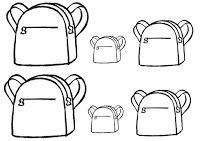 Terug naar school - Boekentassen: van klein naar groot
