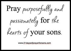 21 Days of Prayer for Sons