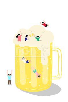 PAI147, 프리진, 일러스트, 여름, 더위, 시원한, 무더위, 피서, 캐릭터, 동양인, 전신, 단체, 휴가, 휴식, 힐링, 냉방, 오브젝트, 도화지, 서있는, 친구, 남자, 여자, 풍경, 미소, 웃음, 행복, 열대야, 그림자, 옷, 의류, 차가운, 대피, 상상, 환상, 미니어처, 아이, 어린이, 맥주, 술, 음료, 물방울, 인사, 안녕, 잠수, 다이빙, 수영, 점프, 신발, 컵, 원피스, 반팔, 반바지, 거품, 생맥주, 건배, 만세, 음식, 노란색, 사람,#유토이미지 Love Design, Wall Design, Food Sketch, Beer Art, Beer Festival, Cute Illustration, Aesthetic Art, Food Art, Illustrators