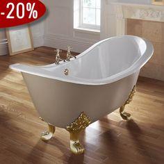 Sheraton-Antique badekar, Støbejern & Messingfødder - Badekaret måler 1.800 x 770 mm | Bredt udvalg af badekar kan købes billigt online hos VillaHus.com