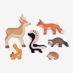 Woodland Animal Set, I want all of these! Pet Toys, Baby Toys, Toys For Boys, Kids Toys, Animal Set, Natural Toys, Wooden Animals, Woodland Creatures, Scroll Saw