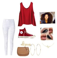 """""""Untitled #62"""" by jadalavonne on Polyvore featuring beauty, WithChic, Converse, Sydney Evan, Allurez, River Island and MICHAEL Michael Kors"""