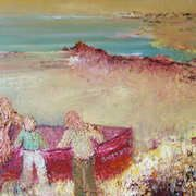 'Attempting To Launch The Curragh' Maria Noonan-McDermott. Irish Landscape, Irish Art, Donegal, The Conjuring, Impressionist, Ireland, Artist, Painting, Painting Art