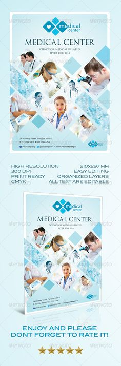 Medical Flyer in 2 Colors Medicine doctor, Medical and Fonts - medical brochures templates