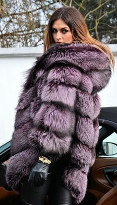 silver fox fur coat - Google Search