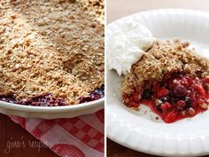 When summer berries are at their peak, make this warm berry crisp and enjoy it with a scoop of frozen yogurt or whipped cream. This is delicious with any combination of berries and leftovers makes a great breakfast with some yogurt.     Triple Berry Crisp Gina's Weight Watcher Recipes Servings: 8 • Serving Size: 1/8th • Points +: 6 pts • Smart Points: 8 Calories: 210.5 • Fat: 6.9 g • Protein: 2.9 g • Carb: 40 g • Fiber: 5.1 g • Sugar: 23.3 g Sodium: 11.5 mg   Ingredients:  For the filling…
