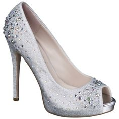 Women's De Blossom Nadine Jeweled Peep Toe Pumps - Assorted Colors (The Shoes I want- but most assuredly CAN'T walk in)
