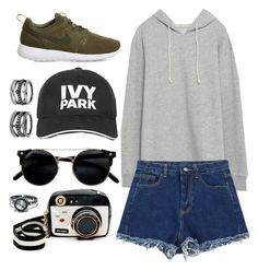 """""""Boy Sweater."""" by cece-cherry ❤ liked on Polyvore featuring Zara, Chicnova Fashion, NIKE, Betsey Johnson, Ivy Park and LULUS"""